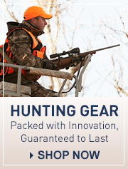 Hunting gear. Packed with innovation, guaranteed to last. Shop now.