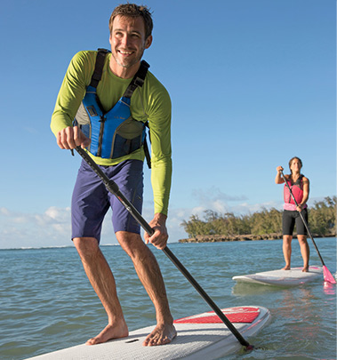 Stand-Up Paddleboarding with L.L.Bean Outdoor Discovery Schools.