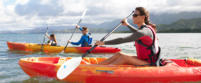 RECREATIONAL KAYAK TOUR. Paddle calm waters in stable recreational kayaks.