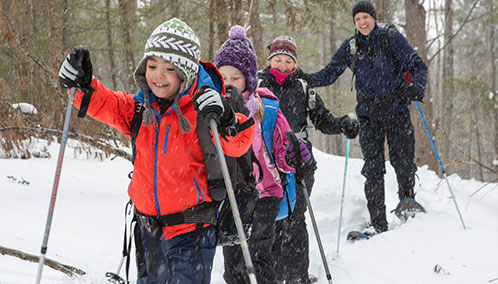 Discover Your Inner Adventurer. Our winter camp takes your kids offline and gets them outdoors to learn a variety of fun skills such as cross-country skiing, snowshoeing, geocaching, sledding and more.