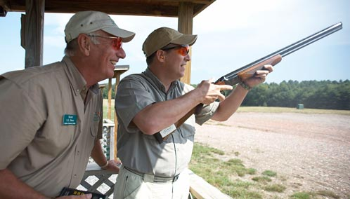 The Ultimate Fast-Paced Fun. Start breaking clay pigeons after a shooting lesson with our top shots or enjoy a round of 5-Stand Sporting Clays.
