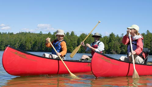 Discover the Joy of Canoeing. Learn how to paddle a canoe in our introductory course or take a canoe tour for a unique view of Maine's diverse wildlife and scenic landscape.
