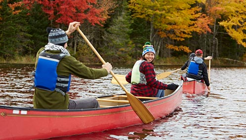 Discover the Joy of Canoeing. Learn how to paddle in our introductory course, or join us for a unique view of Maine's diverse wildlife and scenic landscape.