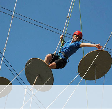 ROPES COURSE. A low and high ropes adventure course with plenty of fun obstacles for team-building, school outings and leadership training – daily, June to October.