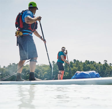 STAND UP PADDLE BOARDING. Learn the exciting sport of stand up paddle boarding – the perfect balance of fitness and fun. Daily, June to October.