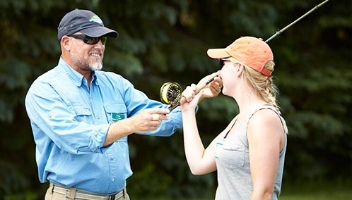 Get Hooked on Fly Fishing. Learn more about fly casting, try your hand at fly tying or join our expert instructors for day of action-packed fishing on the Androscoggin River.