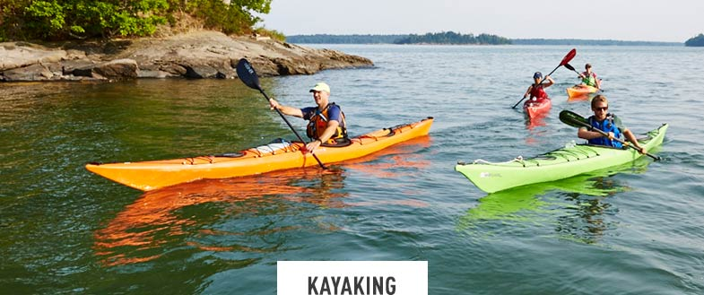 Kayaking. Come explore beautiful waterways with our expert paddling guides. Recreational or sea kayaking adventures available, depending on location. Daily. June to October.