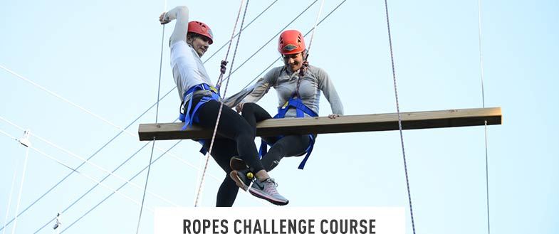 ROPES COURSE. A low and high ropes challenge course with plenty of fun obstacles for team-building, school outings and leadership development. Daily. June to October.