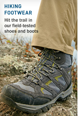 Hiking Footwear. Hit the trail in our field-tested shoes and boots.