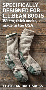 SPECIFICALLY DESIGNED FOR L.L.BEAN BOOTS. Warm, thick socks, made in the USA