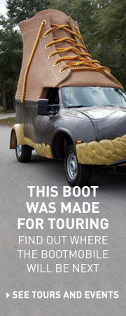 This Boot Was Made for Touring. Find out where the Bootmobile will be next.