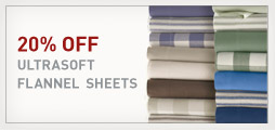 20% Off Ultrasoft Flannel Sheets