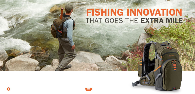 Fishing Innovation That Goes the Extra Mile. This ground-breaking pack quickly converts from day pack to vest so you'll go from getting there to fishing, faster.