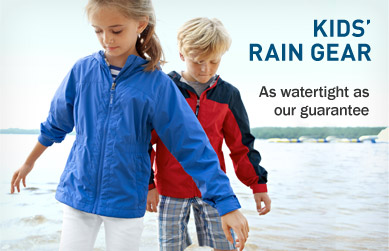 Kids' Rain Gear. As watertight as our guarantee.