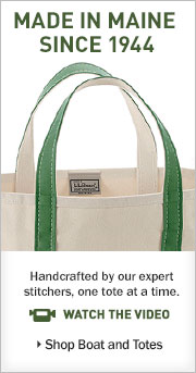 Made in Maine since 1944 Handcrafted by our expert stitchers, one tote at a time.