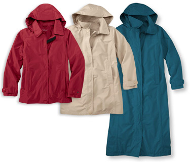 Women's H2OFF DX Rainwear. Look Great Even When the Forecast Doesn't. In your choice of mesh-lined for warmer days or wool-lined, with a lightly insulated removable liner.