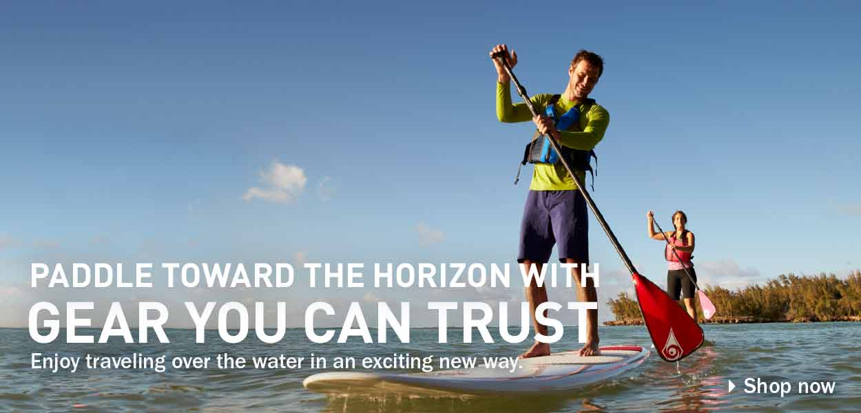 Paddle Toward the Horizon with Gear You Can Trust. Enjoy traveling over the water in an exciting new way.