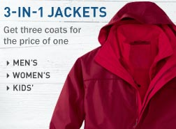 3-in-1 Jackets. Get three coats for the price of one.