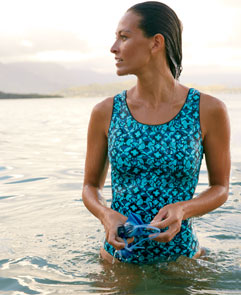 NEW Bean's Lap Suit. Our most chlorine-resistant suit – specially designed for lap swimmers.