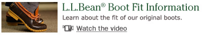 L.L.Bean Boot Fit Information. Learn about the fit of our original boots.