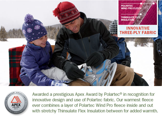 Recipient of an Apex Award for innovative design of Polartec fabric