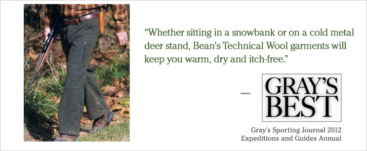 L.L.Bean Technical Wool Pant - 2012 Gray's Best Award Winner