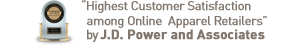 """Highest Customer Satisfaction among Online Apparel Retailers"" by J.D. Power and Associates"