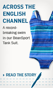 Across the English Channel. A record-breaking swim in our BeanSport Tank Suit.