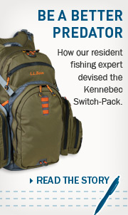 Be a Better Predator. How our resident fishing expert devised the Kennebec Switch-Pack.