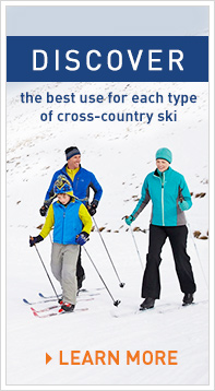 Discover the best use for each type of cross-country ski.