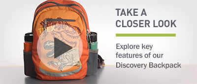 Watch the video about our Discovery Backpack