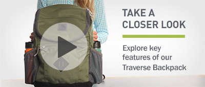 Watch the video about our Traverse Backpack