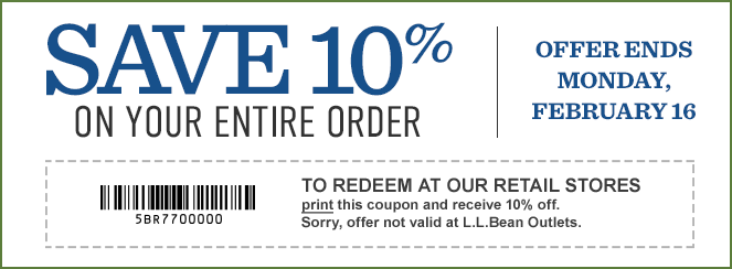 image relating to Llbean Printable Coupon identified as Coupon codes