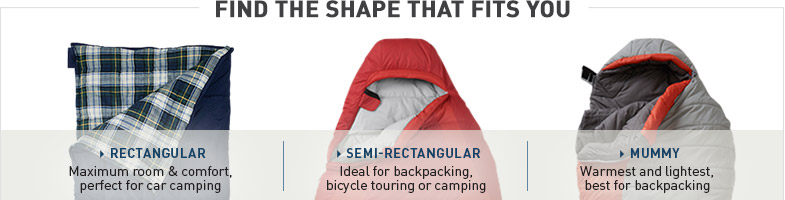 Find the Sleeping Bag Shape that Fits You.