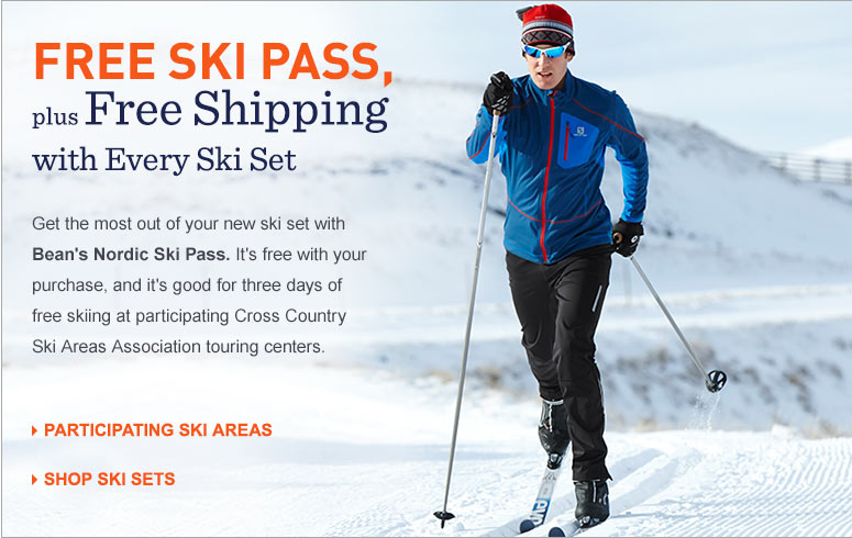 Free Ski Pass, plus Free Shipping with Every Ski Set