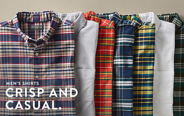 Men's Shirts. Crips And Casual.