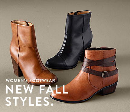 Women's Footwear. New Fall Styles.