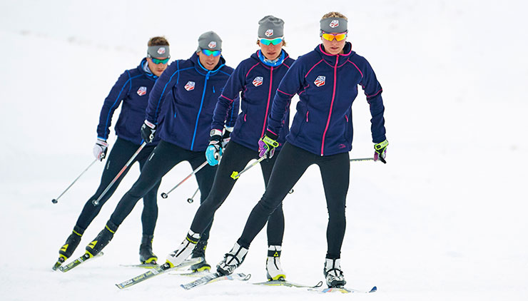 The U.S. Ski Team trains in gear from official supplier, L.L.Bean.