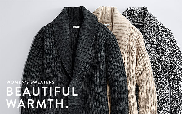 Women's Sweaters. Beautiful Warmth.