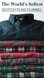 The world's softest scotch plaid flannel