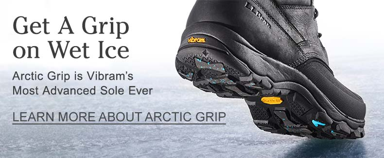 Get a Grip on Wet Ice. Artic Grip is Vibrams Most Advanced sole ever.