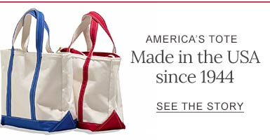AMERICANS TOTE MADE IN USA SINCE 1944. SEE THE STORY