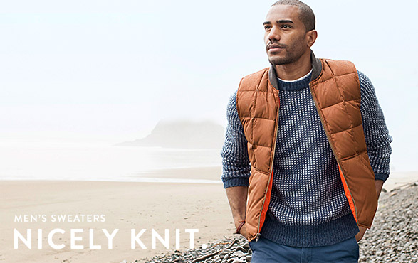 MEN'S SWEATERS. NICELY KNIT.
