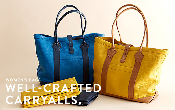 WOMEN'S BAGS. WELL-CRAFTED CARRYALLS.