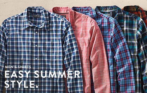 Men's Shirts. Easy Summer Style.
