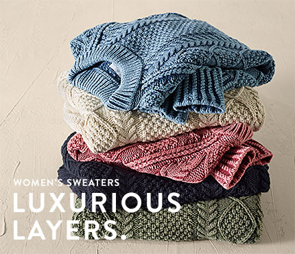 Women's Sweaters. Luxurious Layers.