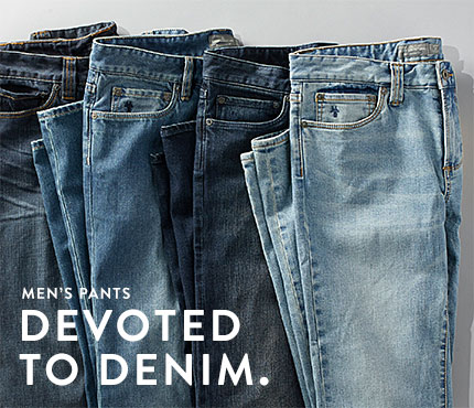 Men's Pants. DEVOTED TO DENIM.