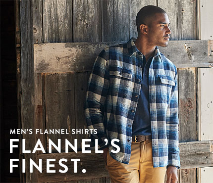 Men's Flannel Shirts. FLANNEL'S FINEST.