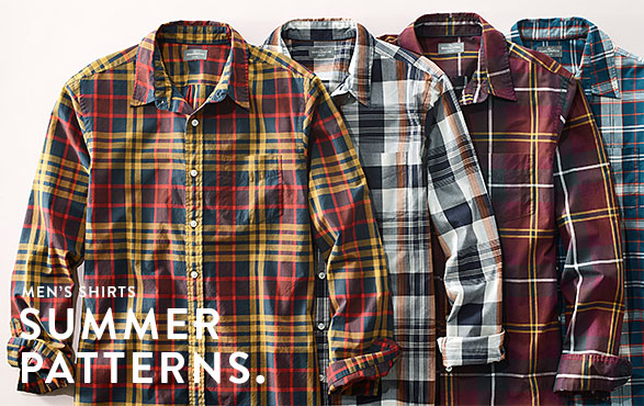 Men's Shirts. Summer Patterns.