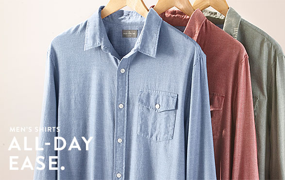 Men's Shirts. All-Day Ease.